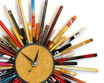 Wall Clock, Paper Gift Idea, Living Room Decor, Decor and Housewares, Unique Gift