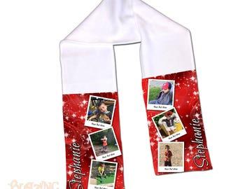 Fleece Scarf Personalized with Custom Photo