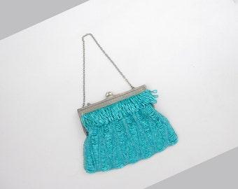 Bellaclaire beaded purse | vintage 1920s beaded purse | vintage flapper handbag