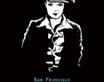 """Louise Brooks San Francisco Silent Film Festival 2016 11x17"""" poster FREE SHIPPING!"""