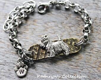 Scottish Terrier Bracelet, Scotty Bracelet, Scottie Jewelry, Scotty Dog, Scottie Dog