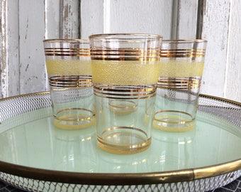Original 50s rockabilly 4 juice glasses set/original 50s rockabilly 4 Juice Glass Set
