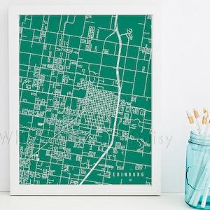 Edinburg city map Etsy