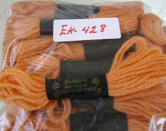 Yarn, Paragon, 100% Wool Crewel Needlepoint, #642 Light Burnt Orange, 8.8 Yards