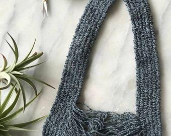 Aria Necklace//Fiber Jewelry//Woven
