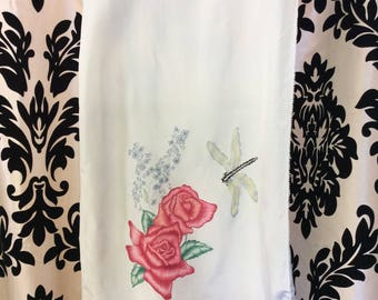 1950's Handpainted Scarf