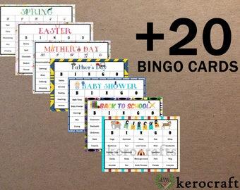 20 ADDITIONAL BINGO CARDS