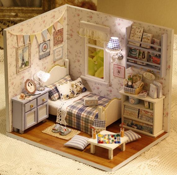 miniature de bricolage chambre miniature maison handcraft kit. Black Bedroom Furniture Sets. Home Design Ideas
