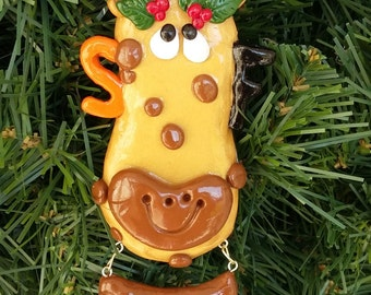 SF Giants  Belt Giraffe Ornament