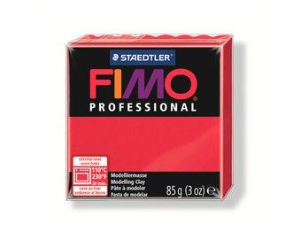 Polymer clay Fimo Pro 85 g - Carmine No. 29