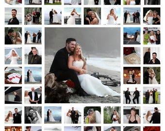 Wedding Collage, Wedding Photos, Photoshoot, 1st Wedding Anniversary Gift, Personalised Collage, Custom Collage, Keepsake, Digital File