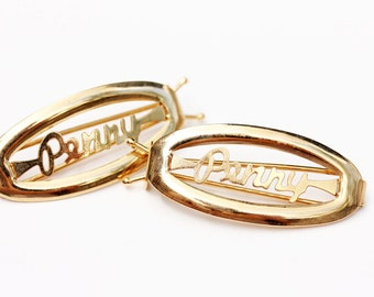 Vintage Hair Clips - Penny