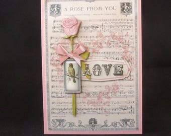 Old Fashioned Anniversary Card, Anniversary Card, Traditional Anniversary Card, Wife Anniversary Card, Handmade in UK Card