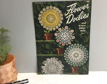 Flower Doilies  - Star Book No. 64 - 1949 -  American Thread Company