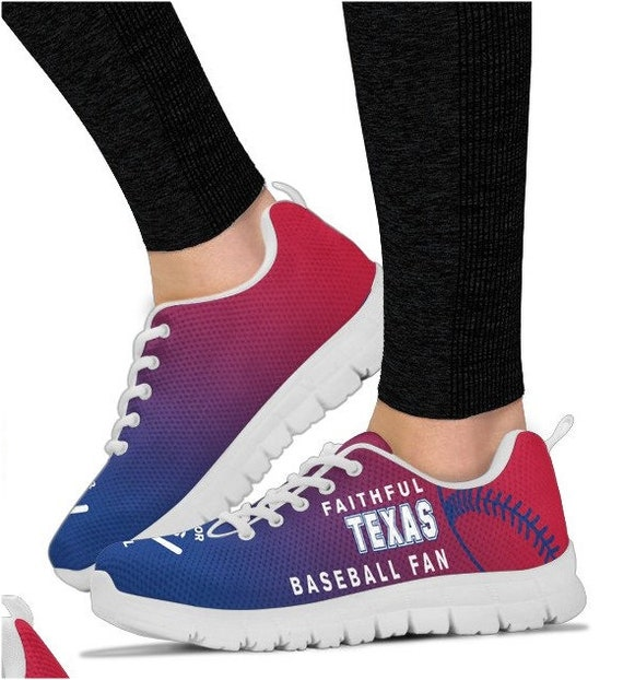Shoes Rangers Walking PP Sneaker Fan Baseball Texas 059A HB dwvqIW