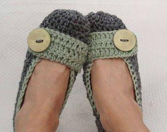 Crochet Womens Comfy Rectangle Strap Slipper