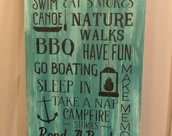 Rustic pallet sign 'Lake Rules', lakehouse decor, pallet signs, wood signs, home decor, rustic decor