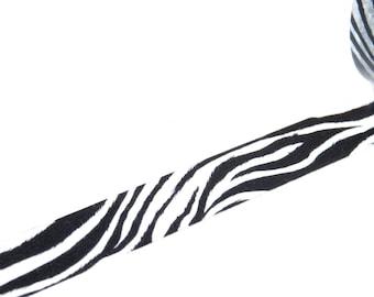 Black & White Zebra Stripe Washi Decorative Paper Tape
