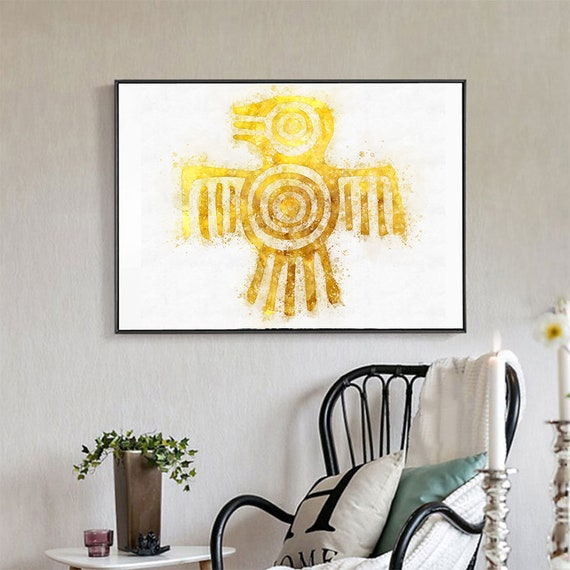 Tribal Wall art Digital download Aztec Watercolor Art Prints