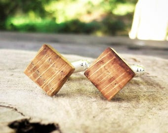 Wood cufflinks, cuff links,shirt accessories,groom,groomsman,bestman,father,fathers day,boyfriend,dad,husband,man gift