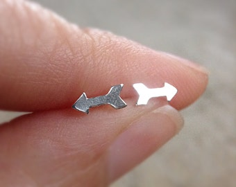 Arrow Earrings, Sterling Silver Stud Earrings, Silver Post Earrings, 925 Stud Earrings, Sterling Studs, Bohemian Jewelry