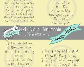 We Are 3 Digital Sentiments - Vintage Garden