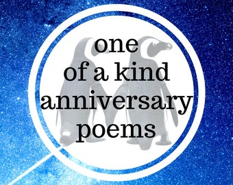 Inspire Poems For An Anniversary // capture your relationship through memories and future aspirations with this poetry present, gift.