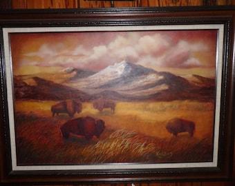 Home On The Range Acrylic Western Scene by Texas Artist Kay Willis