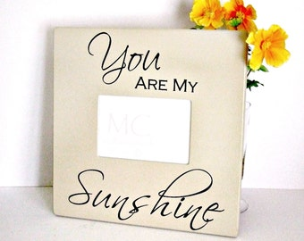 Wood Picture Frame You are My Sunshine, Wood Photo Frame, Grandparents Picture Frame, Gift for Her, Baby Gift, Nursery Decor,