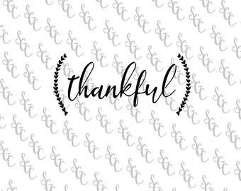 Reusable Stencil - Thankful with Ferns - Many Sizes to Choose from!