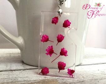 Pendent Cyclamen Flowers-handmade-resin/cyclamen flower pendant-hand made-resin