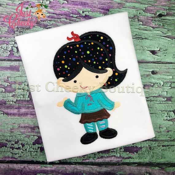 Vanellope Von Schweetz - Wreck It Ralph Inspired Embroidered Shirt - Disney Girls Shirt - Disney Princess Birthday Shirt