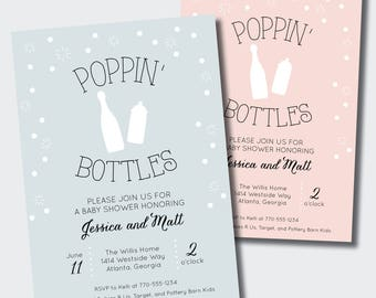 Poppin Bottles Baby Shower Invitation | Couples ...
