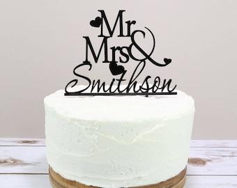 Personalised Wedding Cake Topper - Mr & Mrs Cake Topper - Wedding Cake Topper - Mr and Mr Cake Topper - Mrs and Mrs Cake Topper