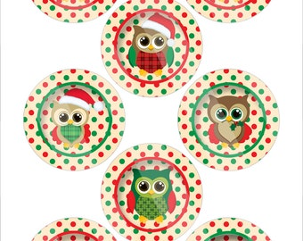 DIY Christmas Owls 1.313 Digital Images R13011
