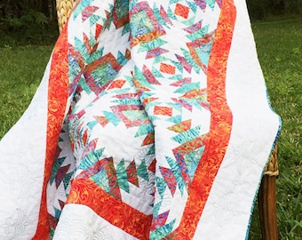 Birds In The Pineapples Lap Quilt, Quilt, Coverlet, Table Cover