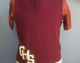 1940s college sweater / tank top