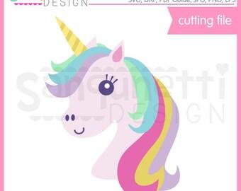 Unicorn SVG, Unicorn Head, Rainbow svg, unicorn, DXF, EPS, svg Files for Cutting Machines