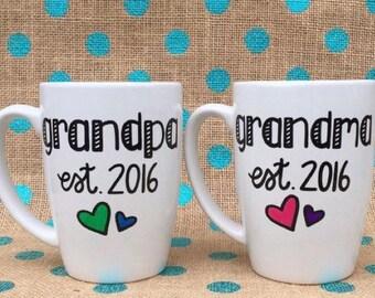 New Grandparent Mug set