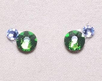 Green & Pale Blue Eye Candies ATS Tribal Fusion Bindi - 00127