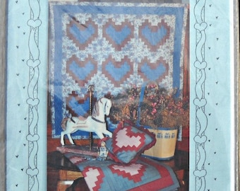 Heart's Content Quilt Pattern, by Debbie Mumm, Mumm's the Word, Vintage 1984, Quilting Pattern