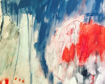 Original Abstract Painting on canvas, home decor, expressionism, art