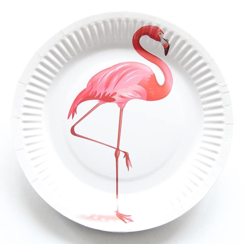 10 piece Flamingo 7 inch Paper Plates - Wedding Birthday Tropical Exotic Backyard BBQ Fiesta Party Supply -  sc 1 st  High Point Merchantile & 10 piece Flamingo 7 inch Paper Plates - Wedding Birthday Tropical ...