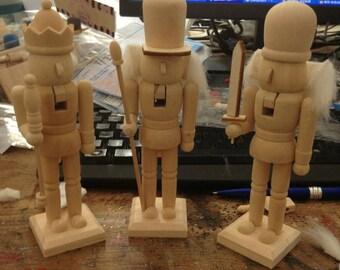 Nutcracker kit etsy diy wooden nutcracker kit set 3 in 1 solutioingenieria Image collections