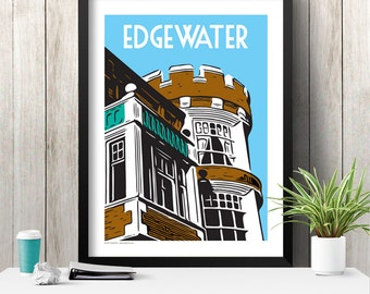 EDGEWATER Chicago Neighborhood Poster