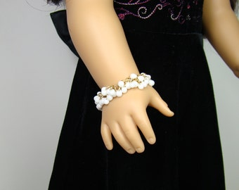 "White Shaggy Bracelet for 18"" Play Dolls such as American Girl®"