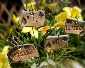 vegetable marker, garden label, Garden Plant Markers - Herb stake , herb marker,   (4) markers plants your choose   - # 20