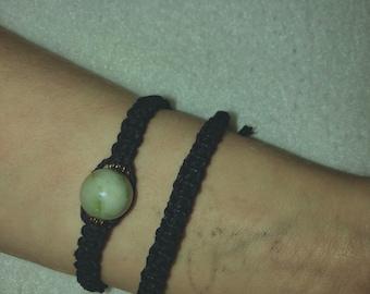 Plain Black Square Knot Bracelet