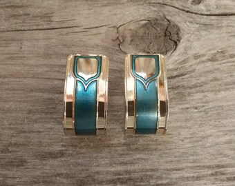 Vintage Duri Earrings-Gold and Turquoise-Gold Earrings-Turquoise Earrings-Free Shipping-Gift Box Included