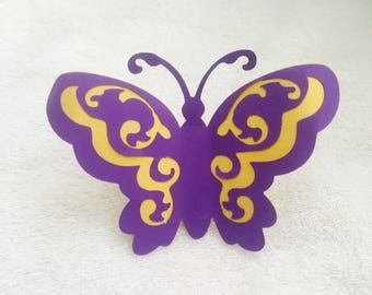 Butterfly die cut out